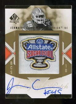 2010 Upper Deck SP Authentic Championship Patch Autographs #JC Jermaine Cunningham Autograph