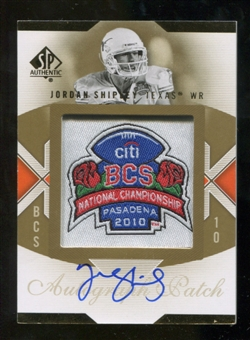 2010 Upper Deck SP Authentic Championship Patch Autographs #JS Jordan Shipley Autograph