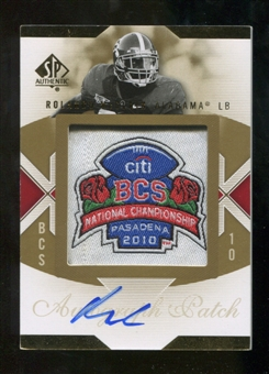 2010 Upper Deck SP Authentic Championship Patch Autographs #RM Rolando McClain Autograph