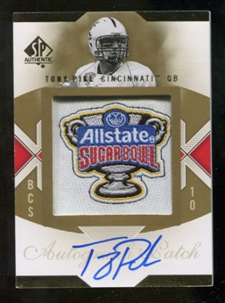 2010 Upper Deck SP Authentic Championship Patch Autographs #TP Tony Pike Autograph