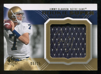 2010 Upper Deck SP Authentic Rookie Super Jersey Autographs #JC Jimmy Clausen Autograph /25