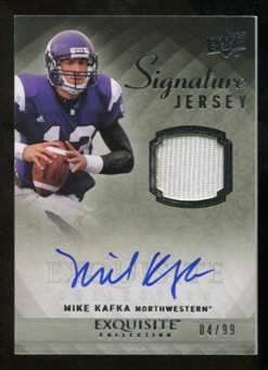 2010 Upper Deck Exquisite Collection Signature Jersey #ESJMK Mike Kafka Autograph /99