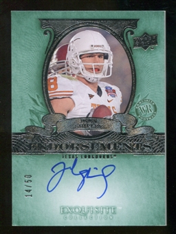 2010 Upper Deck Exquisite Collection Endorsements #ESH Jordan Shipley Autograph /50