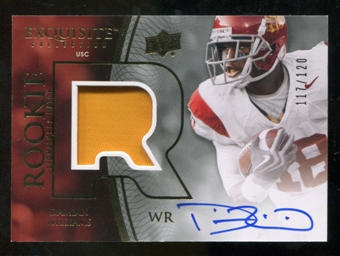 2010 Upper Deck Exquisite Collection #115 Damian Williams RC Patch Autograph /120