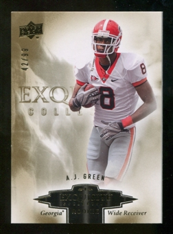 2010 Upper Deck Exquisite Collection Draft Picks #ERAG A.J. Green /99