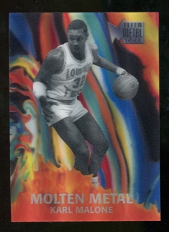 2012/13 Upper Deck Fleer Retro 96-97 Molten Metal #9 Karl Malone