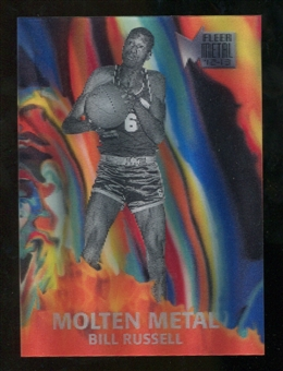 2012/13 Upper Deck Fleer Retro 96-97 Molten Metal #10 Bill Russell