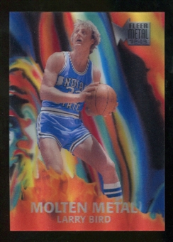 2012/13 Upper Deck Fleer Retro 96-97 Molten Metal #19 Larry Bird