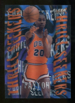 2012/13 Upper Deck Fleer Retro 96-97 Tradition Thrill Seekers #16 Gary Payton