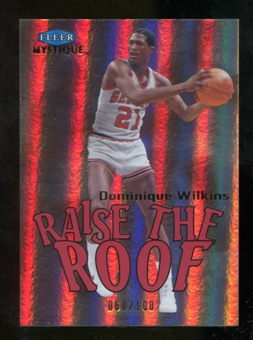 2012/13 Upper Deck Fleer Retro 99-00 Mystique Raise the Roof #1RR Dominique Wilkins /100
