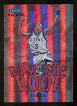 2012/13 Upper Deck Fleer Retro 99-00 Mystique Raise the Roof #3RR Allen Iverson /100