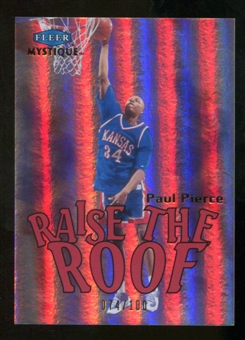 2012/13 Upper Deck Fleer Retro 99-00 Mystique Raise the Roof #6RR Paul Pierce /100