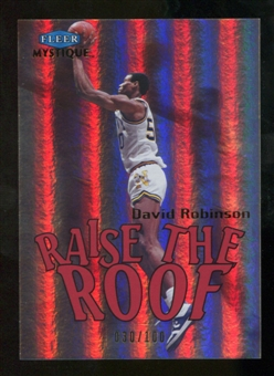 2012/13 Fleer Retro 99-00 Mystique Raise the Roof #8RR David Robinson /100