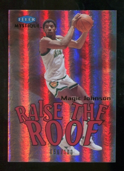 2012/13 Upper Deck Fleer Retro 99-00 Mystique Raise the Roof #9RR Magic Johnson /100