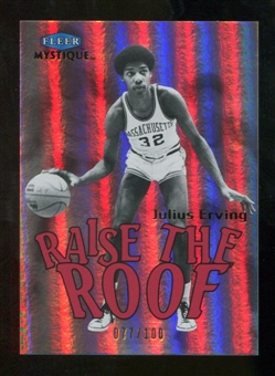2012/13 Fleer Retro 99-00 Mystique Raise the Roof #10RR Julius Erving /100