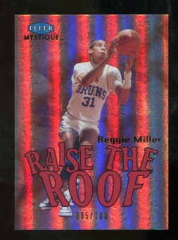 2012/13 Fleer Retro 99-00 Mystique Raise the Roof #11RR Reggie Miller /100