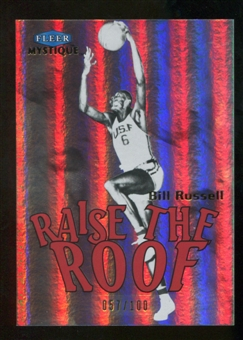 2012/13 Upper Deck Fleer Retro 99-00 Mystique Raise the Roof #15RR Bill Russell /100