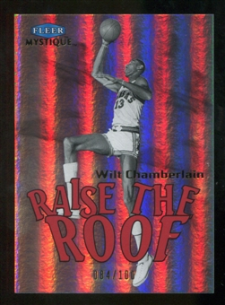 2012/13 Upper Deck Fleer Retro 99-00 Mystique Raise the Roof #16RR Wilt Chamberlain /100