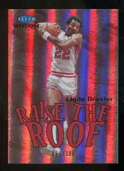 2012/13 Fleer Retro 99-00 Mystique Raise the Roof #19RR Clyde Drexler /100