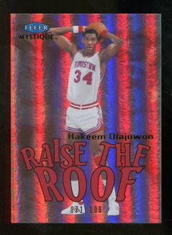 2012/13 Upper Deck Fleer Retro 99-00 Mystique Raise the Roof #20RR Hakeem Olajuwon /100