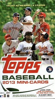 2013 Topps Baseball Mini Cards Hobby Box