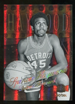 2012/13 Upper Deck Fleer Retro 98-99 Metal Universe Precious Metal Gems #98PM16 Spencer Haywood /50