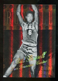 2012/13 Upper Deck Fleer Retro 98-99 Metal Universe Precious Metal Gems #98PM34 Bill Russell /50
