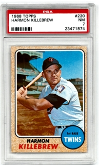 1968 Topps Baseball #220 Harmon Killebrew PSA 7 (NM) *1874*