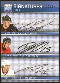 2008/09 Upper Deck Be A Player Signatures Trios #S3FSH Mike Fisher Jason Spezza Dany Heatley 13/35