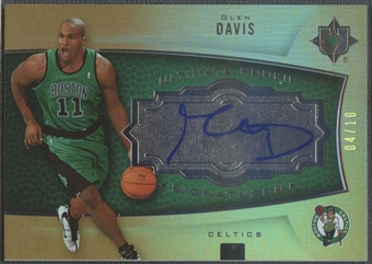 2007/08 Ultimate Collection #113 Glen Davis Foil Rookie Auto #04/10