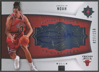 2007/08 Ultimate Collection #132 Joakim Noah Rookie Auto #027/150