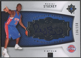 2007/08 Ultimate Collection #139 Rodney Stuckey Rookie Auto #136/150