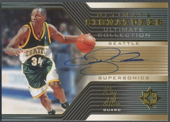 2004/05 Ultimate Collection #RA Ray Allen Ultimate Signatures Auto