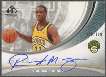 2005/06 SP Game Used #RM Ronald Murray SIGnificance Rookie Auto #058/100