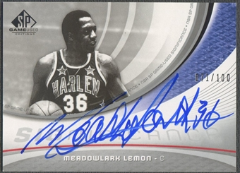 2005/06 SP Game Used #ML Meadowlark Lemon SIGnificance Auto #071/100