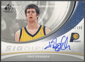 2005/06 SP Game Used #JO John Edwards SIGnificance Auto #098/100