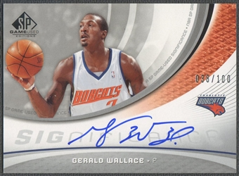 2005/06 SP Game Used #GW Gerald Wallace SIGnificance Auto /100