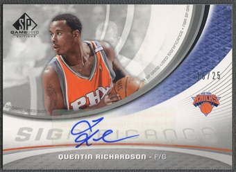 2005/06 SP Game Used #QR Quentin Richardson SIGnificance Auto #16/25