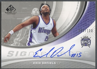 2005/06 SP Game Used #ED Erik Daniels SIGnificance Auto #099/100