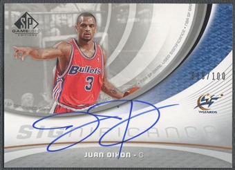 2005/06 SP Game Used #JD Juan Dixon SIGnificance Auto #018/100