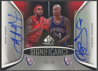 2006/07 SP Game Used #HR Richard Jefferson & Hassan Adams SIGnificance Dual Auto #36/50
