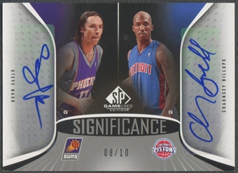 2006/07 SP Game Used #NB Steve Nash & Chauncey Billups SIGnificance Dual Auto #08/10