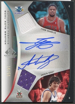 2006/07 SP Game Used #BC Tyson Chandler & Andrew Bogut Authentic Fabrics Dual Jersey Auto #34/50