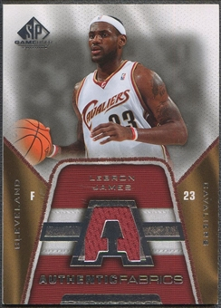 2007/08 SP Game Used #AFLJ LeBron James Authentic Fabrics Jersey