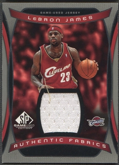 2004/05 SP Game Used #LJ LeBron James Authentic Fabrics Jersey