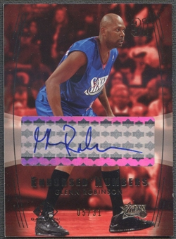 2004/05 SP Game Used #GR Glenn Robinson Endorsed Numbers Auto #05/31