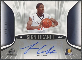 2006/07 SP Game Used #JW James White SIGnificance Auto #064/100