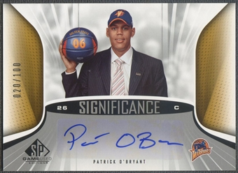 2006/07 SP Game Used #PO Patrick O'Bryant SIGnificance Rookie Auto /100