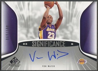 2006/07 SP Game Used #VW Von Wafer SIGnificance Auto #069/100