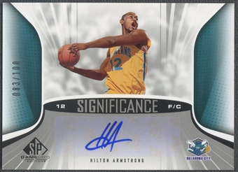 2006/07 SP Game Used #AH Hilton Armstrong SIGnificance Rookie Auto #083/100